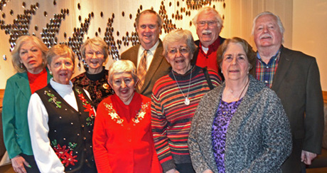The club's Steering Committee for 2016 was introduced at the annual Christmas luncheon Dec. 1 at Bonefish Grille in Fredericksburg. They are, left to right, Chris Carr, programs, historian and special events; Jan Moore, community projects; Norma Lanier, community projects; Shirley Pfile, chair; Jim Donovan, programs and issues; Mary Berger, membership; Kerry Sipe, publicity; Pat Drake, secretary;p and Gary Sibley, treasurer. Not shown is Lalli Omar, programs.